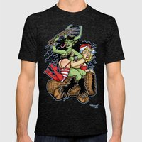 Krampus Spanking Mens Fitted Tee Tri-Black SMALL