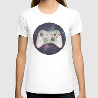 Joystick #07 Womens Fitted Tee White SMALL