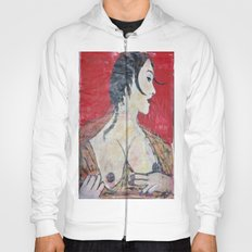 PORTRAIT OF A LADY EXPOSING HER TITS Hoody