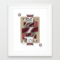 Skeleton Card. Framed Art Print