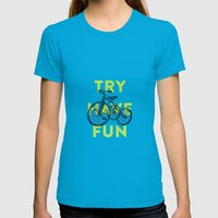 Try Have Fun Womens Fitted Tee Teal SMALL