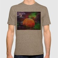Spiders Skulls And Pumpk… Mens Fitted Tee Tri-Coffee SMALL