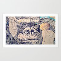 Kong for the Mikes Art Print