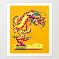 Bonsai Dragon Art Print