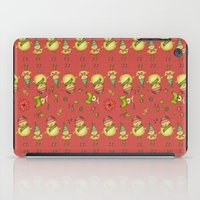 Two Chicks Pattern ~ Red iPad Case