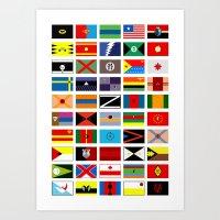 SH As Flags Art Print
