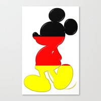German Mickey Maus Canvas Print