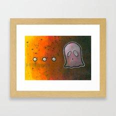 dot dot dot GHOST! Framed Art Print