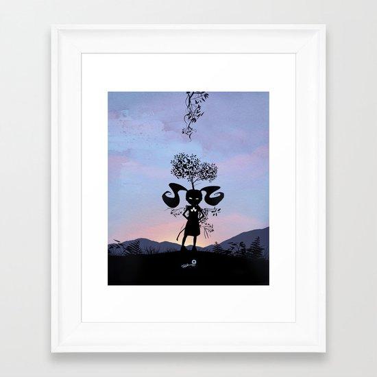 Poison Ivy Kid Framed Art Print