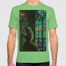 Stained Glass Mens Fitted Tee Grass SMALL
