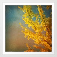 Yellow Ginkgo Tree In Au… Art Print