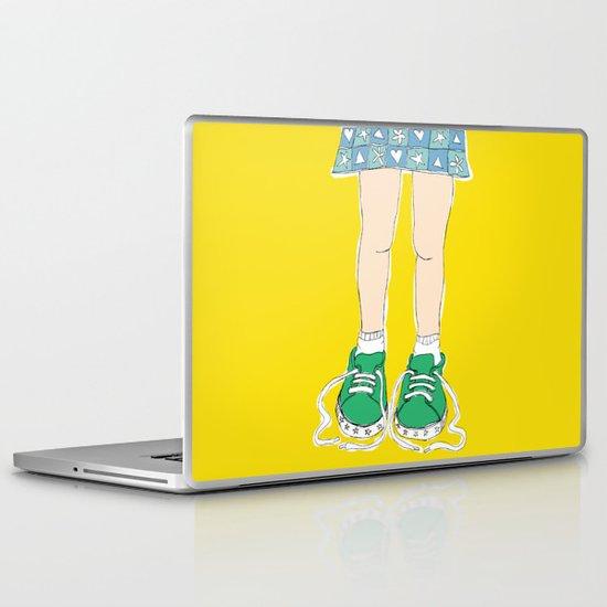 Tying Shoes Laptop & iPad Skin
