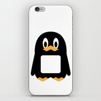 Four-Color Penguins iPhone & iPod Skin