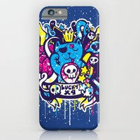 iPhone & iPod Case featuring Unlucky Kitty by grrlmarvel