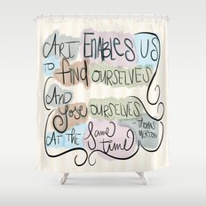 Art Enables Us Shower Curtain