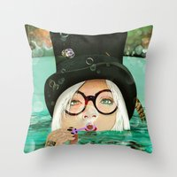 HATFUL OF HOLLOW Throw Pillow