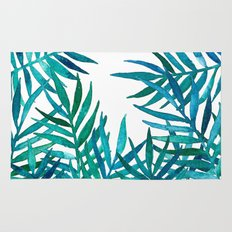 Watercolor Palm Leaves O… Rug