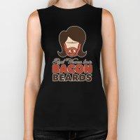 Bacon Beard (women's version) Biker Tank