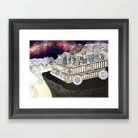 Animals On A Wagon Framed Art Print