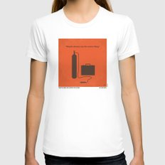 No253 My No Country for Old men minimal movie poster Womens Fitted Tee White SMALL