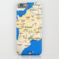 France Map Design iPhone 6 Slim Case
