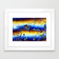 ABSTRACT - My Blue Heave… Framed Art Print