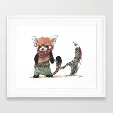 Panda Roux Barbare Framed Art Print