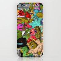iPhone & iPod Case featuring Monster Party by Tyson Bodnarchuk