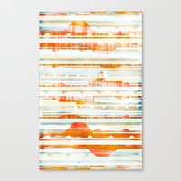 Huts Canvas Print