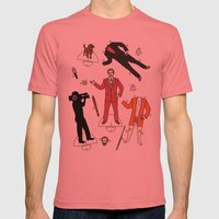 Cut It Out: Ron Burgundy Mens Fitted Tee Pomegranate SMALL
