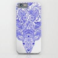 iPhone & iPod Case featuring Little Blue Deer by Huebucket
