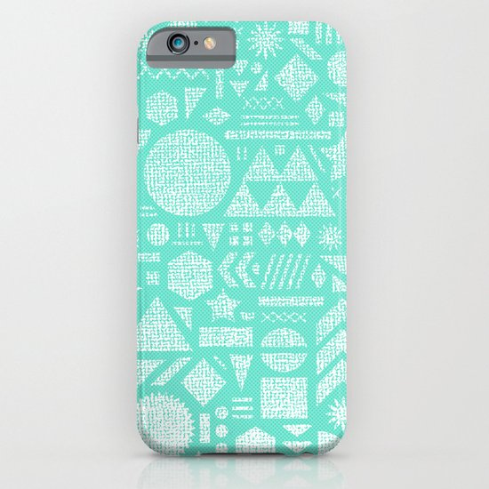 Modern Elements with Turquoise iPhone & iPod Case