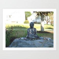 Garden Buddha  Art Print