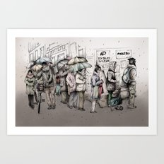 Queue Art Print
