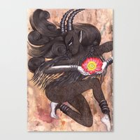 Capricorn, The Ambitious… Canvas Print