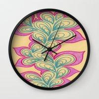 Drops and Petals 2 Wall Clock