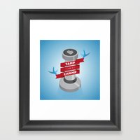 Tamp Like A Champ Framed Art Print