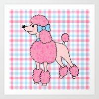 Pink Poodle Art Print