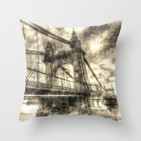 Hammersmith Bridge Londo… Throw Pillow