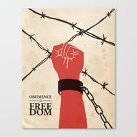 OBEDIENCE Is FREEDOM - T… Canvas Print