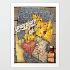 Written In Stone Art Print