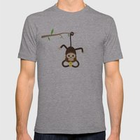 iphone monkey Mens Fitted Tee Athletic Grey SMALL