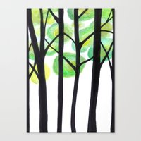 blacks trees Canvas Print