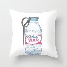water bottle grenade  Throw Pillow