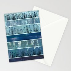 Abstract Sea City Stationery Cards
