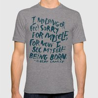 Being Born Mens Fitted Tee Tri-Grey SMALL
