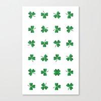 find a lucky clover! Canvas Print