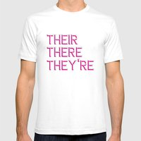 Their, There, They're Mens Fitted Tee White SMALL