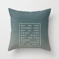 III. Find Happiness Throw Pillow