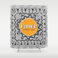 QUOTWAIN (1 of 4) - DANCE V1 Shower Curtain